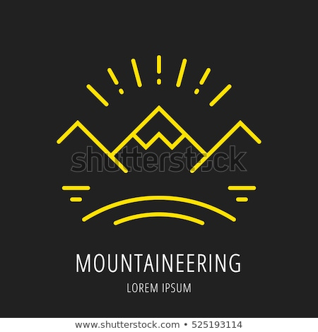Outdoor footwear logo template design with boot Stock photo © blumer1979