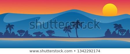 Montanhas praia verão cena belo colorido Foto stock © jeff_hobrath