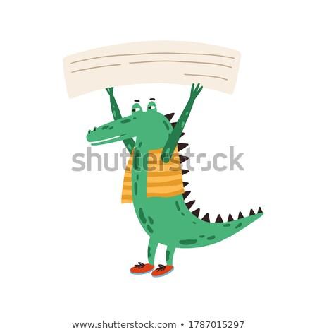 Krokodil sablon illusztráció iroda terv háttér Stock fotó © bluering