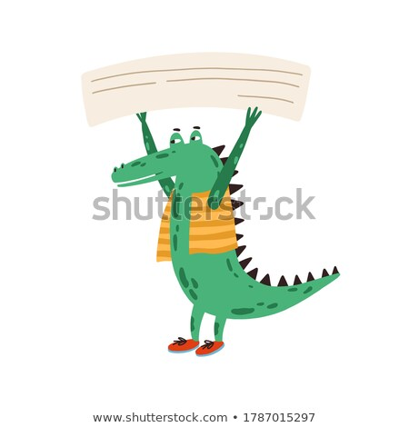крокодила · сведению · шаблон · иллюстрация · текстуры · фон - Сток-фото © bluering