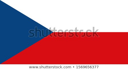Flag of Czech Republic on round frame Stock photo © colematt