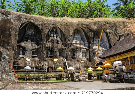 Gunung Kawi. Ancient carved in the stone temple with royal tombs. Bali, Indonesia. PANORAMA, long fo Stock photo © galitskaya