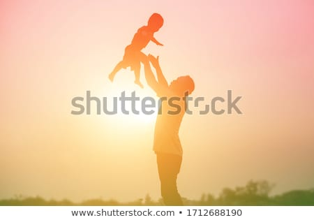 happy family and children relatives walk together stock photo © robuart