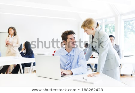 office work boss and employees relationships stock photo © robuart