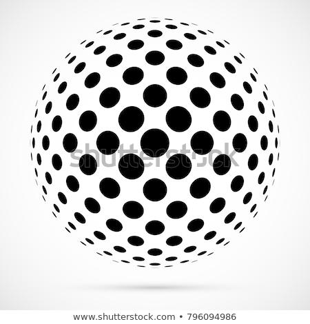 Vettore mezzitoni sfere business mondo mondo Foto d'archivio © designleo