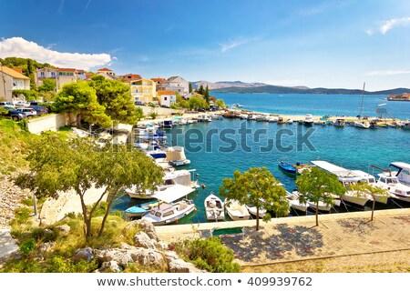 Stok fotoğraf: Köy · deniz · adalar · ev · ağaç · şehir