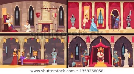 king at the castle scene stock photo © bluering