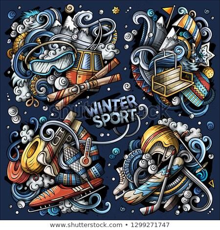 Szett téli sport tárgyak elemek összes különálló Stock fotó © balabolka