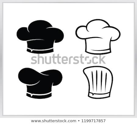 Konyha ikon szakács sapka terv háttér Stock fotó © netkov1
