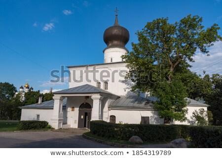 Kerk onderstelling pont gebouw stad kruis Stockfoto © borisb17