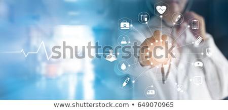 人 触れる バーチャル 病院 医師 青 ストックフォト © ra2studio