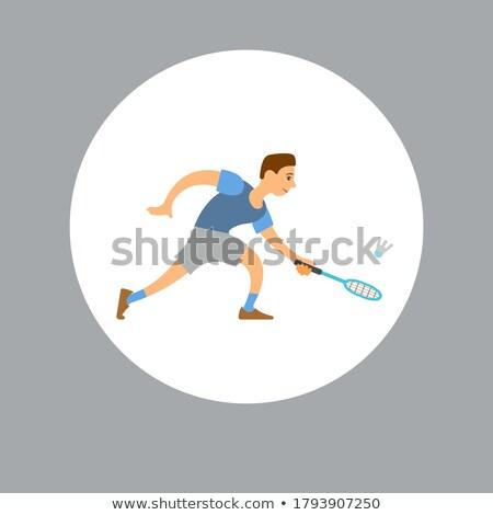 Sportu turniej badminton gracz Zdjęcia stock © robuart