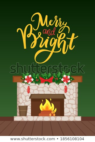 Luxury Bonfire, Flame and Logs, Home Interior Furniture Stock photo © robuart