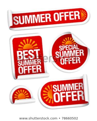 ベスト · 提供 · 夏 · ポスター · セット · ベクトル - ストックフォト © robuart