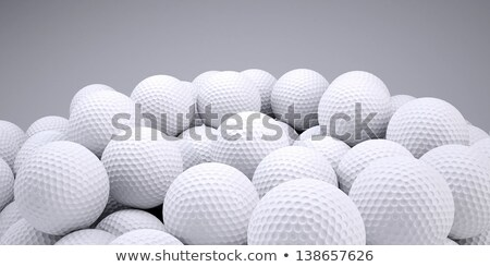 Csoport golf golyók izolált fekete vonalak Stock fotó © lichtmeister
