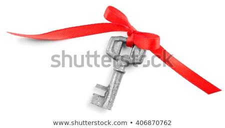 Old key and ribbon concept Stock photo © Genestro