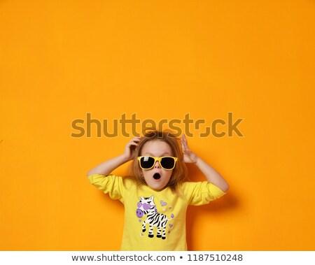 Maravilhado amarelo óculos de sol verão pessoas Foto stock © dolgachov