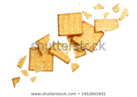 Crashed Crackers Isolated On White Background Stock photo © Bozena_Fulawka