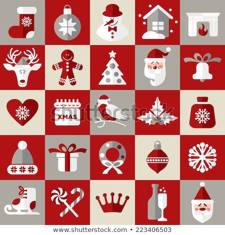 wesoły · christmas · snowman · piernik · cookie · ikona - zdjęcia stock © robuart