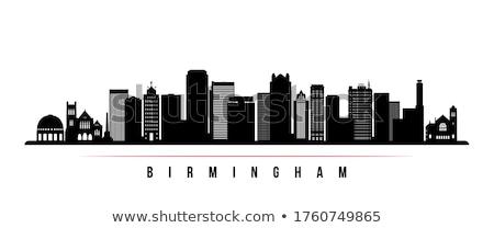 Outline Birmingham (Alabama) Skyline Stock photo © ShustrikS