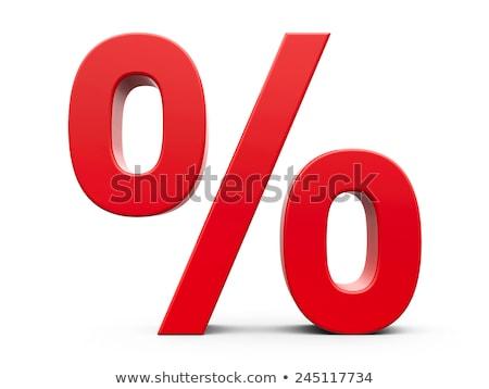 Rosso percentuale simbolo primo piano ufficio Foto d'archivio © AndreyPopov