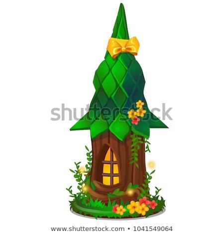 Cute souvenir vorm miniatuur houten fantasie Stockfoto © Lady-Luck