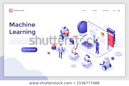 Artificial Intelligence Ai Promotion Banner Vector Stock photo © pikepicture
