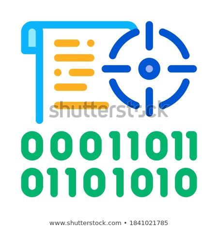 バイナリ ターゲット アイコン ベクトル 実例 ストックフォト © pikepicture