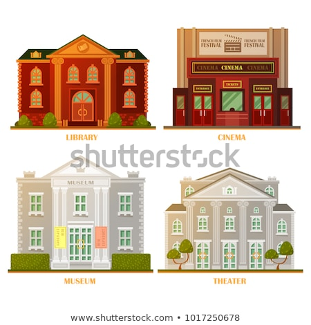 Theater and Museum Cultural Art Centers Vector Stock photo © robuart