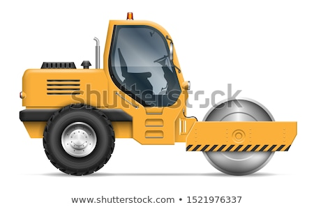 Realistic road roller vector illustration Stock photo © YuriSchmidt