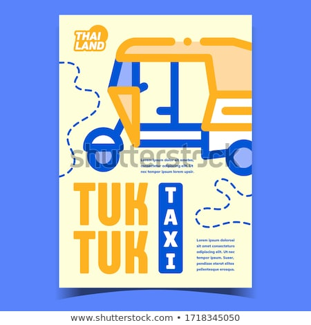 Taxi creatieve reclame poster vector Thailand Stockfoto © pikepicture