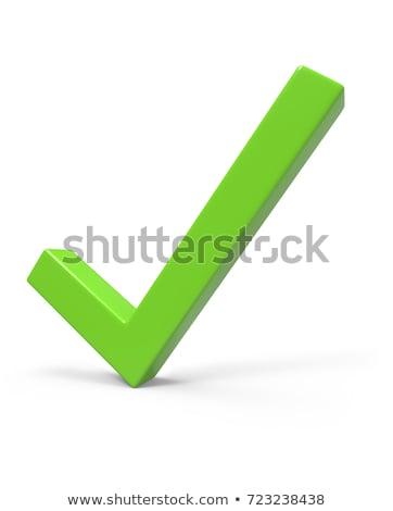 Votar branco isolado ilustração 3d vermelho sucesso Foto stock © ISerg
