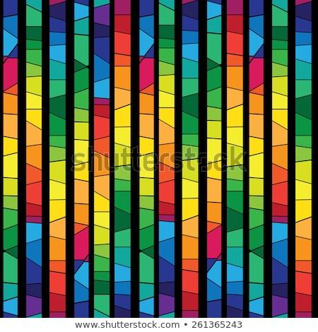 Kleurrijk gebrandschilderd glas venster heldere muur Stockfoto © evgeny89