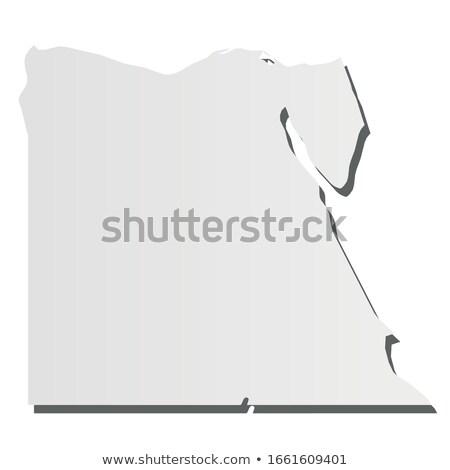 エジプト 国 地図 単純な 黒 シルエット ストックフォト © evgeny89