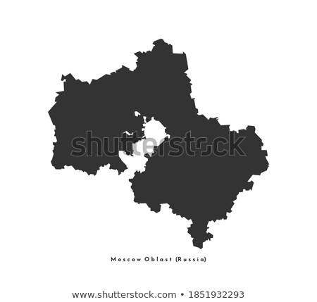 Russland Land Karte einfache schwarz Silhouette Stock foto © evgeny89