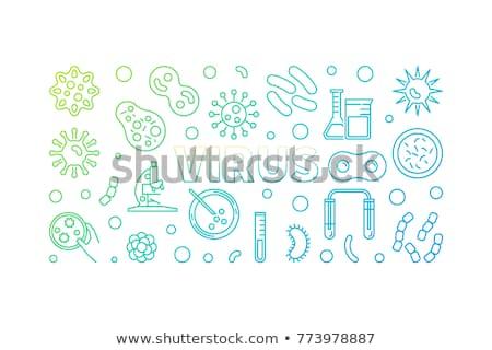 明るい カラフル 生物 細菌 セル アイコン ストックフォト © evgeny89