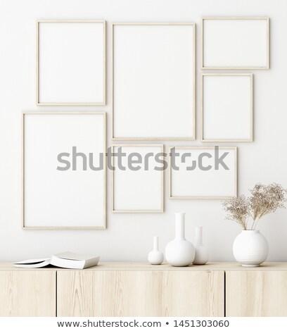 üres művészet keret galéria fal dekoráció Stock fotó © Anneleven