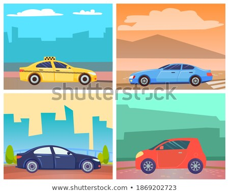 Sportscar at Street of City, Cityscape and Car Stock photo © robuart