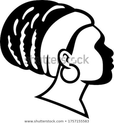 Vrouw zijaanzicht zwart wit retro-stijl illustratie significant Stockfoto © patrimonio