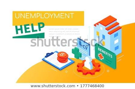Desempleo ayudar moderna colorido web Foto stock © Decorwithme