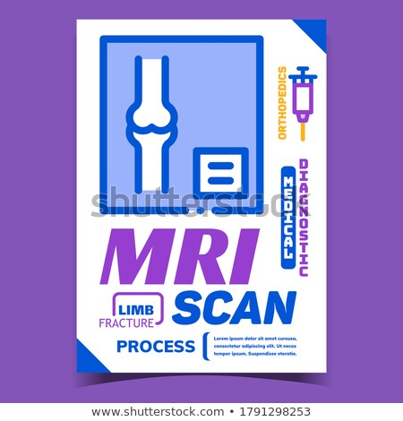 Mri Scan Medical Process Advertising Banner Vector Stock photo © pikepicture