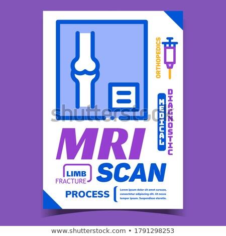 Mri scannen medische procede reclame banner Stockfoto © pikepicture