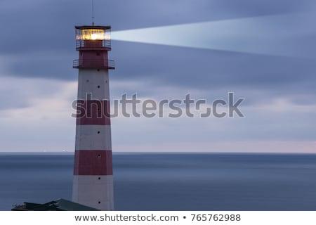 deniz · feneri · güneş · arkasında · ev · Bina · gün · batımı - stok fotoğraf © morrbyte