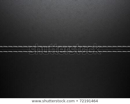 Black horizontal stitched leather background Stock photo © Arsgera