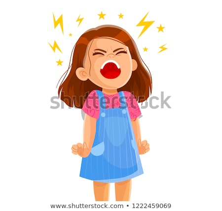 dziewczynka · krzyczeć · dziewcząt · portret · odizolowany · jeden - zdjęcia stock © Paha_L