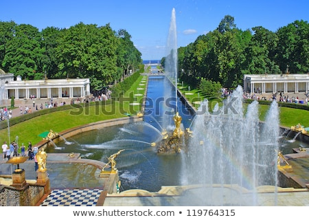 channel with fountain in peterhof stock photo © paha_l