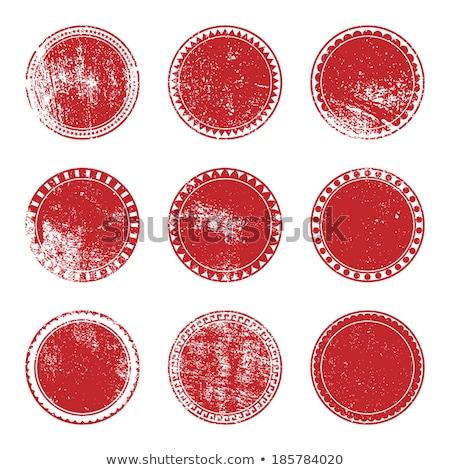 Red sticker on a grunge  Stock photo © orson