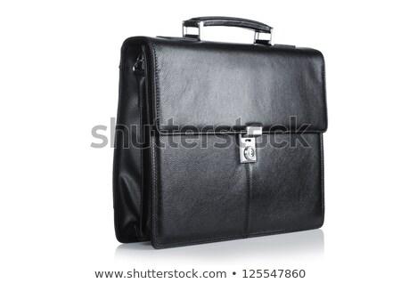 ビジネス · ブリーフケース · 孤立した · 白 · 黒 - ストックフォト © dariusl