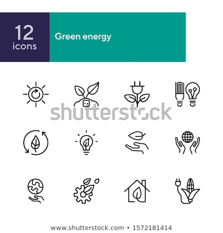 ecology nature and environment icons set isolated on white   re stock photo © lordalea
