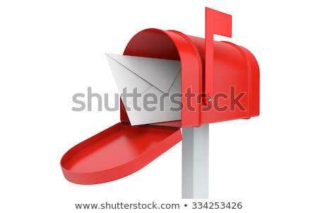 Czerwony poczty odizolowany biały gazety model Zdjęcia stock © Archipoch